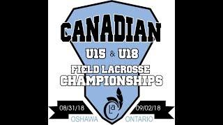 Canadian Field Nationals - U18 Gold Medal Game: Sept 2, 3:30pm