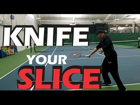 Thumbnail: How to Hit A Better Slice Backhand - Tennis Lesson - The Role Of The Wrist
