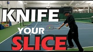 How to Hit A Better Slice Backhand - Tennis Lesson - The Role Of The Wrist