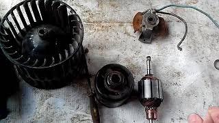 ремонт моторчика печки ваз 2115-08