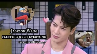 Jackson Wang flirting with everyone, EVEN A DAMN ROCK pt.2