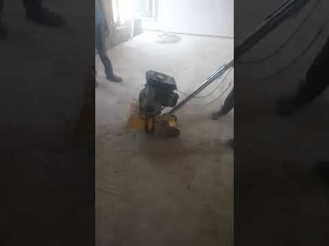 Epoxy flooring, grinding in process
