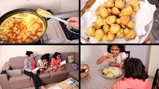 Evening to Night Routine | Indian Dinner Routine | Kadhi Pakoda Recipe | Indian moms busy Routine