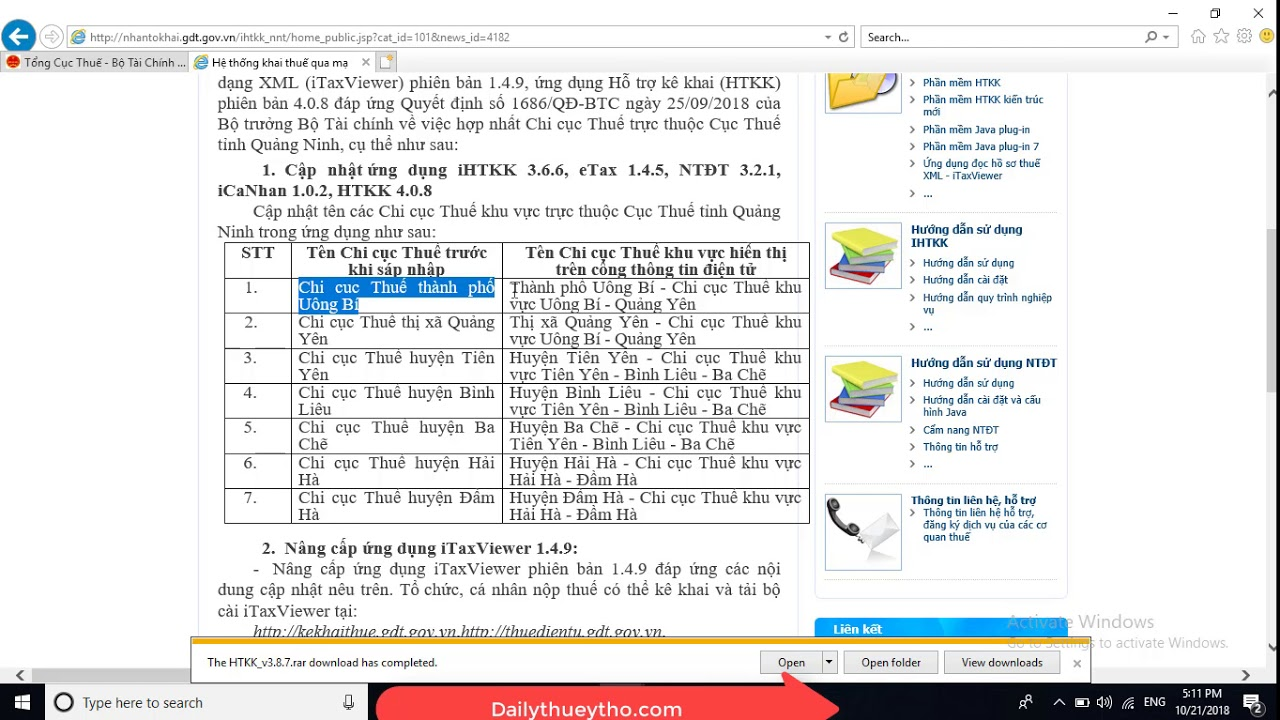 Phần mềm HTKK 3.8.7