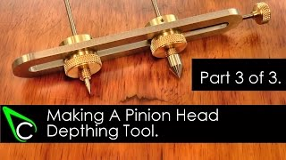 Home Machine Shop Tool Making - Machining A Pinion Head Depthing Tool - Part 3