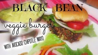 Black Bean Veggie Burger - With Avocado-chipotle Mayo