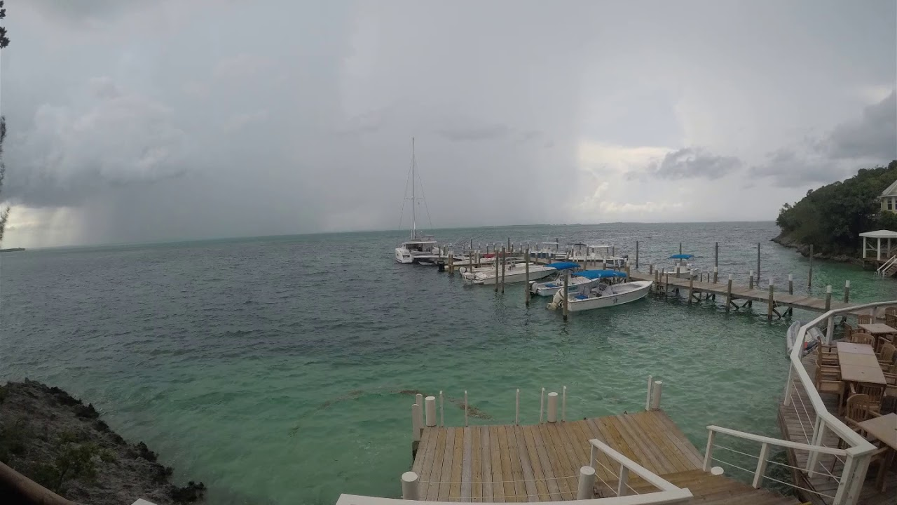 Storm Rolling Into Firefly Sunset Resort Hope Town Abaco Bahamas 2019