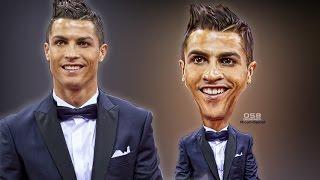 Caricature Cristiano Ronaldo 2016 | Photoshop CC Tutorial