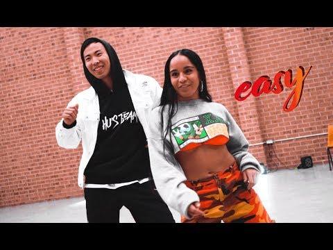DaniLeigh - Easy (Remix) Ft. Chris Brown Dance Choreography By Hu Jeffery