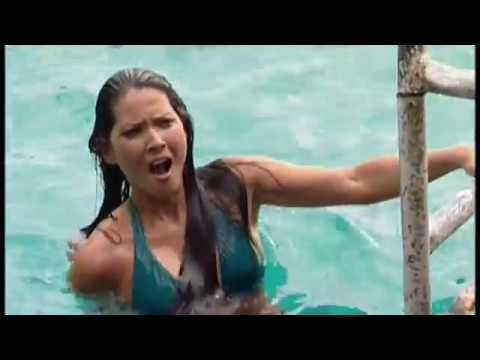 Olivia Munn's Jamacian Cliff Dive