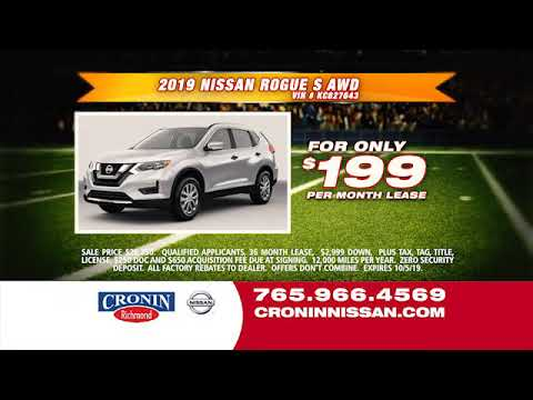 Toyota Richmond Indiana >> Nissan Rogue 199 Per Month Cronin Nissan Richmond Indiana