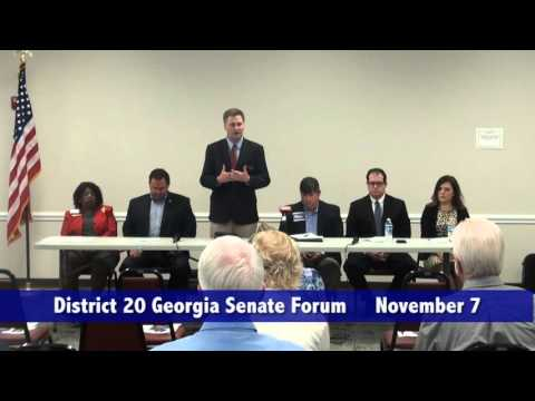 District 20 Georgia Senate Forum - November 7, 2015