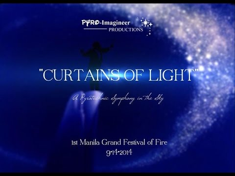 FWsim || Curtains of Light: A Pyrotechnic Symphony in the Sky