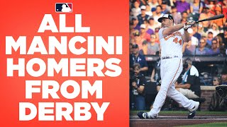All of Trey Mancini's Home Run Derby homers! Incredible inspiration makes it to finals