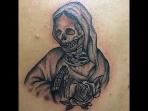 santa muerte tattoo youtube. Black Bedroom Furniture Sets. Home Design Ideas