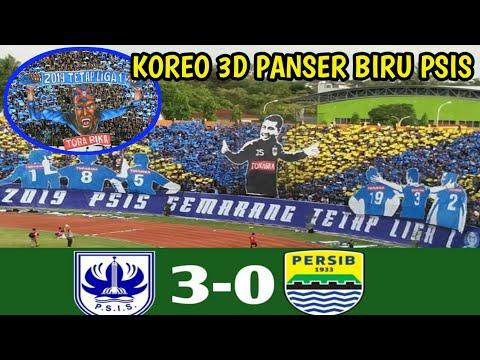 Amazing!! Aksi Koreo 3D Panser Biru Dilaga PSIS Semarang Vs PERSIB Bandung