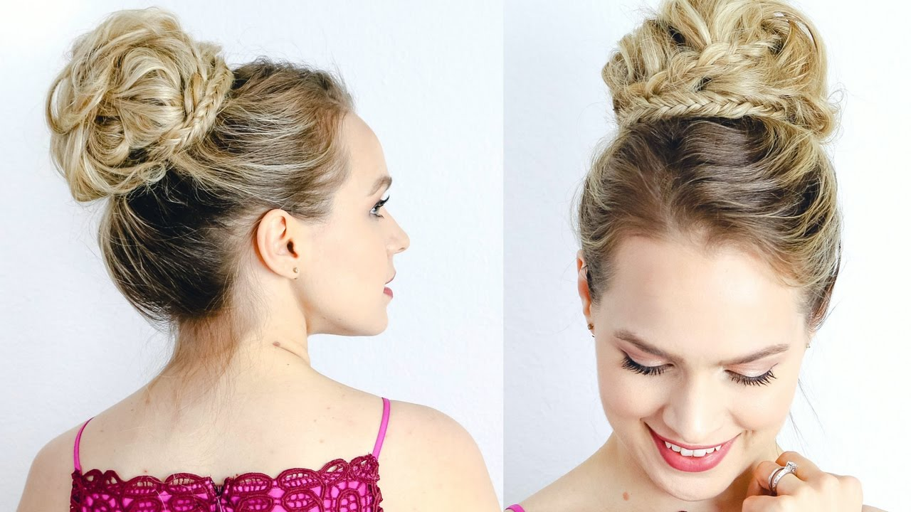 Red Carpet Inspired High Updo - Hair Tutorial - YouTube