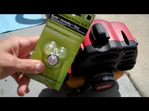 How To Replace Line On The Troy Bilt 29cc 4 Cycle