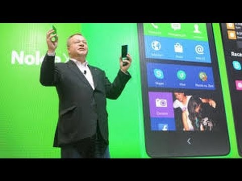 Stephen Elop unveils Nokia X family (Fastlane to Android apps) MWC 2014