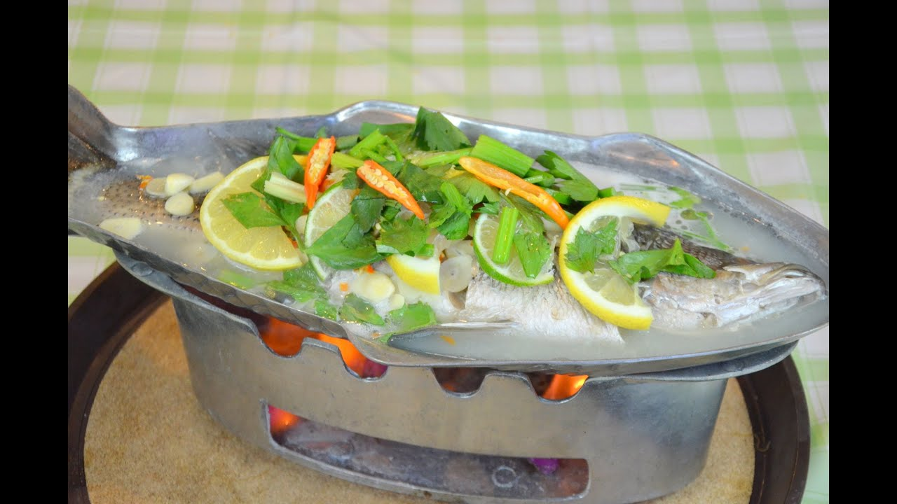 How to make thai steamed fish in lime sauce for How to steam fish