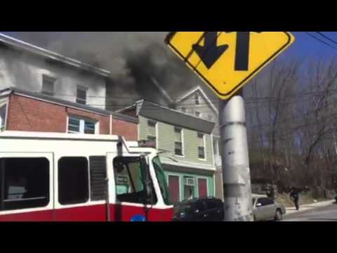 Yonkers firefighters responded to two house fires on Herriot Street on Monday.