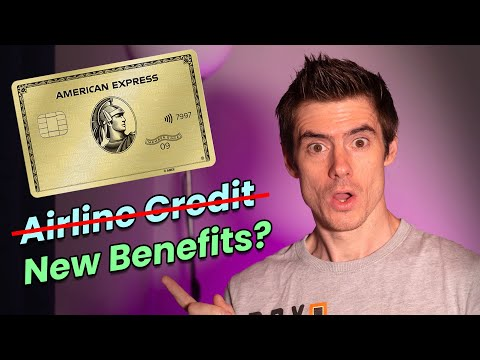 Amex Gold Card To LOSE $100 Airline Credit, NEW BENEFITS Coming?