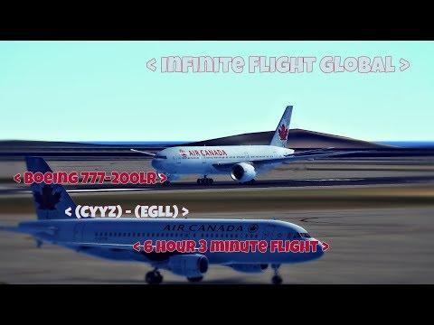 Infinite Flight Global Timelapse - (CYYZ) - (EGLL) - AirCanada Boeing 777-200LR - Day to Night