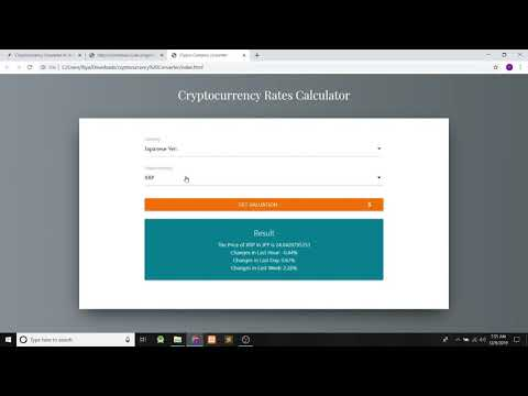 Cryptocurrency Converter In JavaScript With Source Code | Source Code & Projects