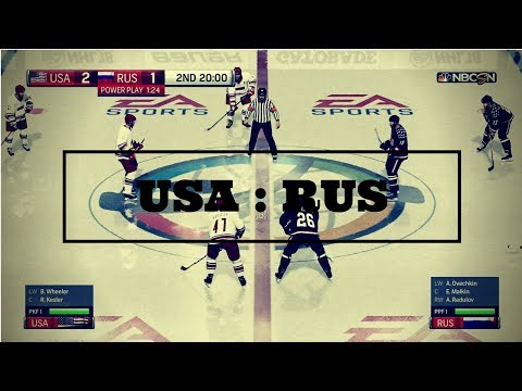 NHL 18: IIHF USA - Russia! Bobrovsky's gift & Kane's hat-trick