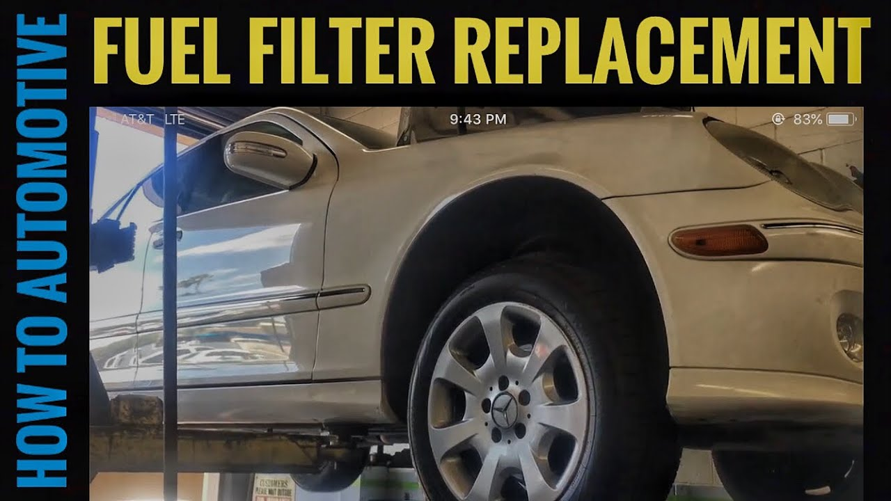 hight resolution of how to replace the fuel filter on a 2005 mercedes c240 youtubehowtoautomotive autorepair brianeslick