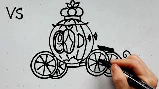 22: Kids' Tutorial -  How to Draw a Disney Cinderella Pumpkin Carriage | Vivi Santoso(This video is created to show young kids how to create simple, yet cute drawings in a short period of time. I have used these same techniques to teach my grade ..., 2016-04-27T22:30:13.000Z)