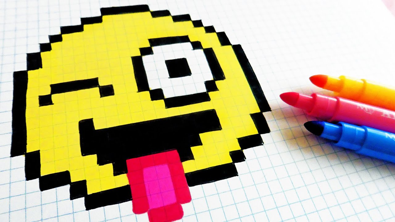 Handmade Pixel Art How To Draw Emoji Pixelart