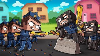 Minecraft Nerf War - COPS BREACH CRIMINAL FORT! (Nerf Police Challenge)