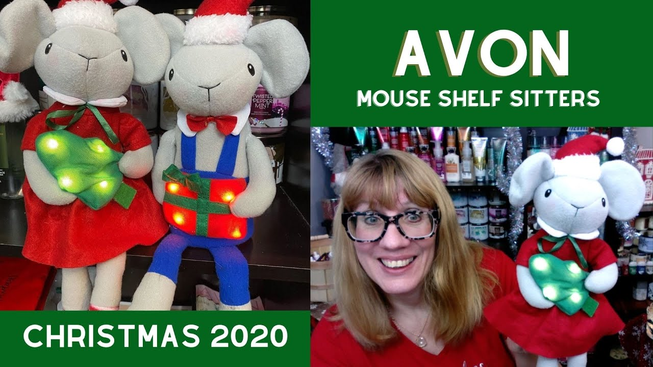 Avon Christmas Plush 2020 AVON Mouse Shelf Sitters CHRISTMAS 2020   YouTube