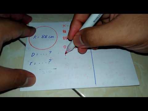 Menentukan Panjang Jari-Jari dan Diameter Jika Diketahui Keliling Lingkaran