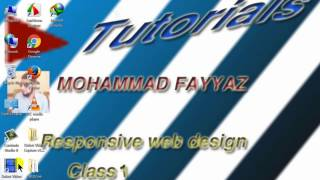 how to create responsive web site with media query in urdu hindi