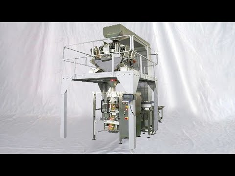 candy nuts large bags packing machine multihead feeding weighing bagging equipment 稱重包裝機多頭組合稱