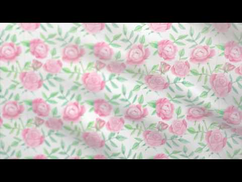 Floral fabric background - free motion graphics