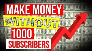 How to Monetize YouTube Videos WITHOUT 1000 SUBS 💥