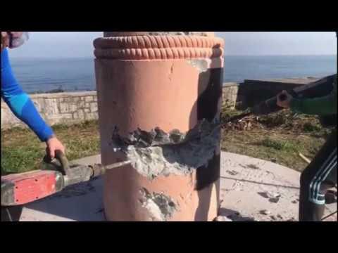 Desconocidos derriban un monumento franquista en la localidad vizcaína de Ondarroa
