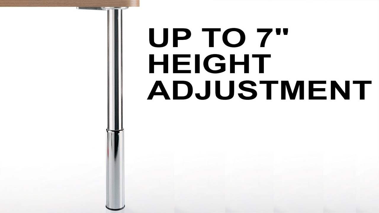 Height Adjustable Studio Table Leg Set | 7 Inch Leveler   YouTube