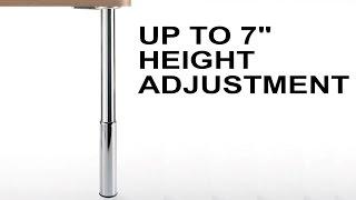 Height Adjustable Studio Table Leg Set | 7 Inch Leveler