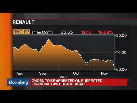 Ghosn Faces Arrest on Suspected Financial Law Breach, Asahi Says