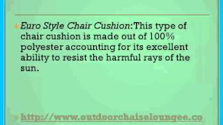 How To Enjoy Outdoor Chaise Lounge Cushions