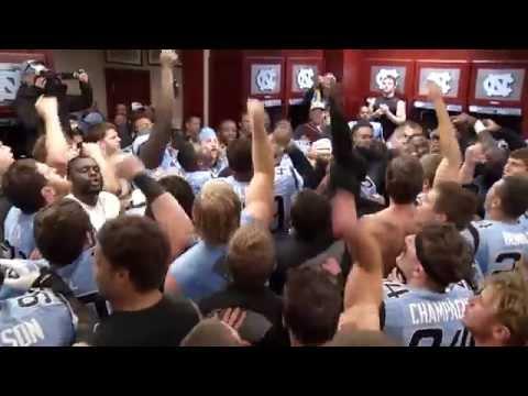 UNC Football: Homecoming Game Locker Room Celebration vs. Pitt