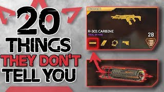 20 Things You Didn't Know in Apex Legends | Tips Tricks and Secrets Respawn Doesn't Tell You