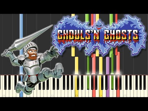 """Ghouls 'n Ghosts - "" using only piano"