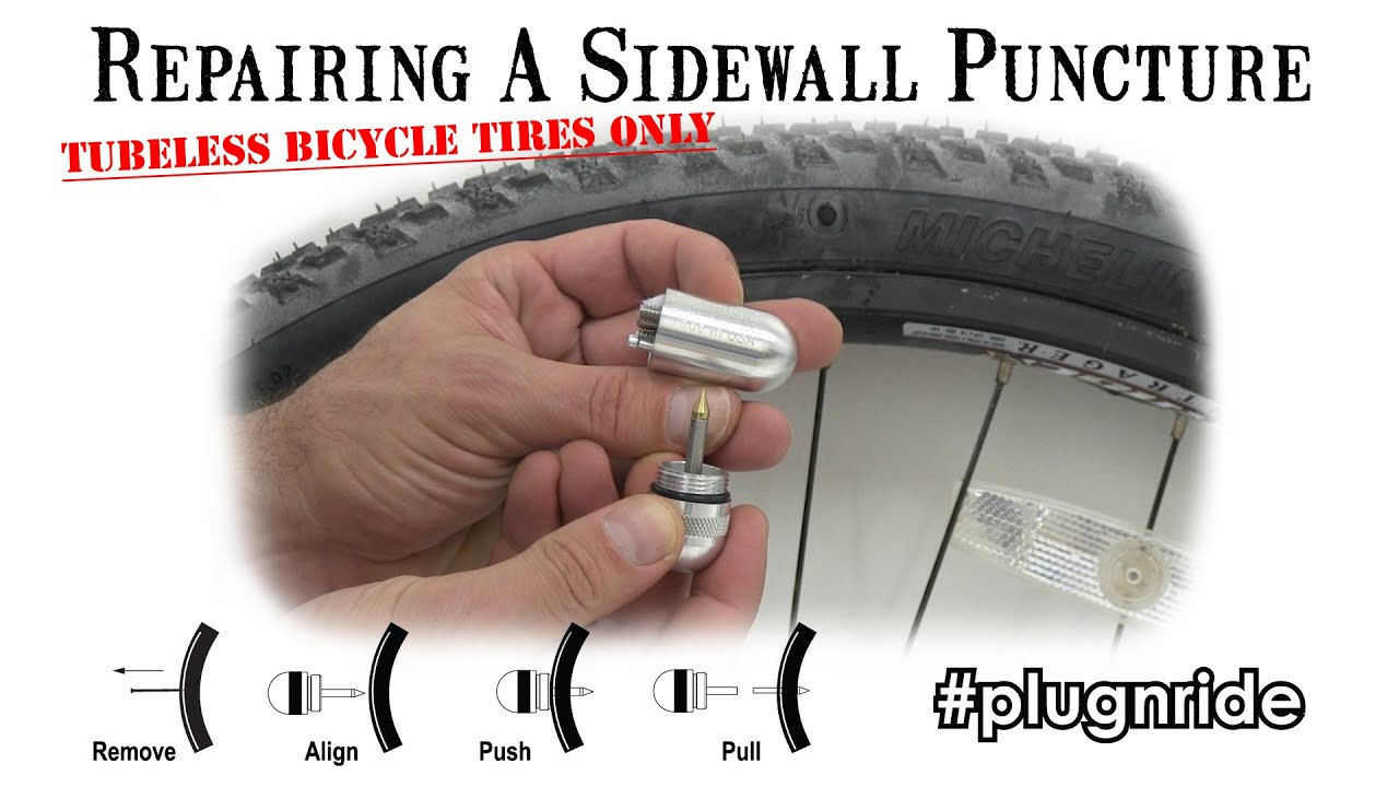 repair  sidewall puncture   tubeless bicycle tire youtube