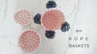 DIY Boho Room Decor | Woven Rope Baskets