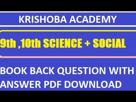 9th,10th Book Back Questions and Answers Pdf Download